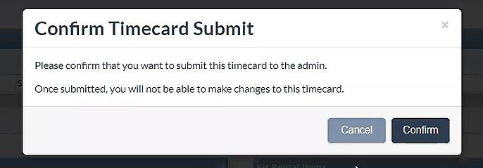 CAPS submit timecard