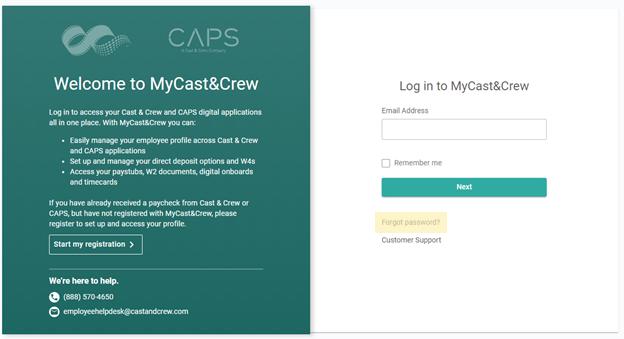 MyC&C login page 12.2