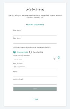 start+ canada enter details